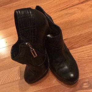 BCBGirls black leather booties